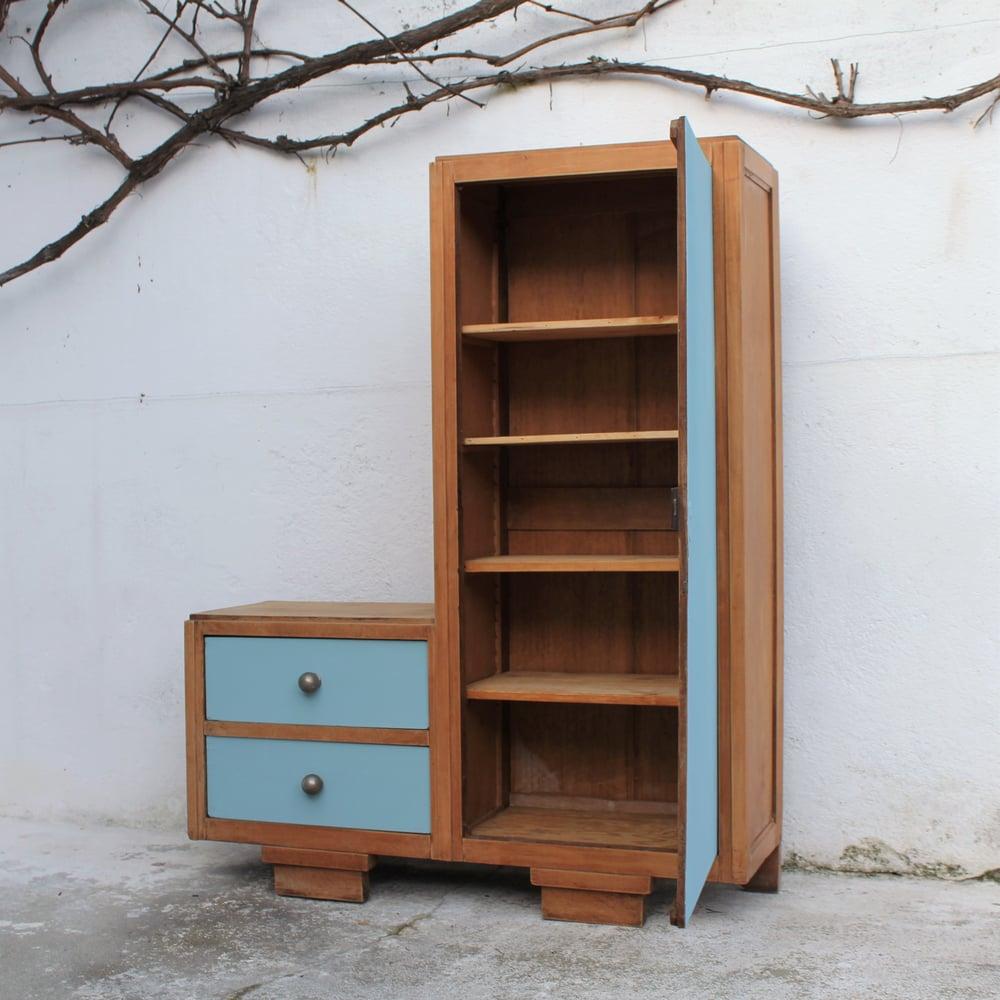 Image of Petite armoire/bibliothèque asymétrique