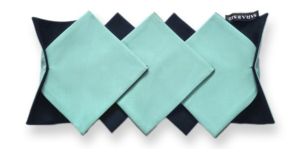 Image of Aqua-Midnight blue Lotus COLLAR