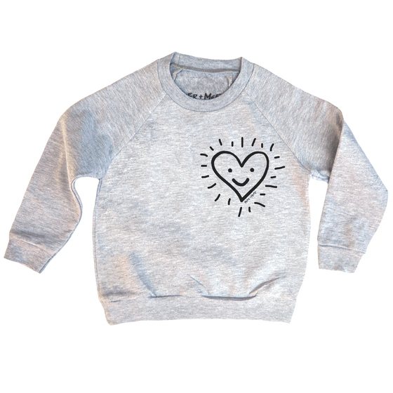 Image of SHINING HAPPY HEART SWEATSHIRT