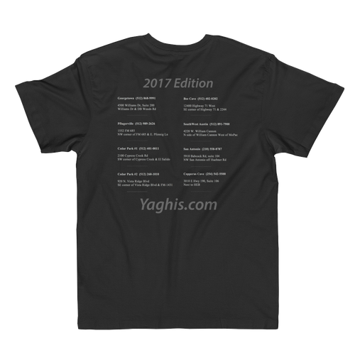 Image of Yaghi's Fine Jersey T-Shirt (Black)