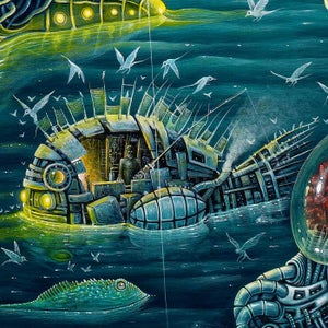 "Image of THE NIGHT TRAWLERS (V-2) ~ 30 x 22"" Extra Large Limited Edition of 50"