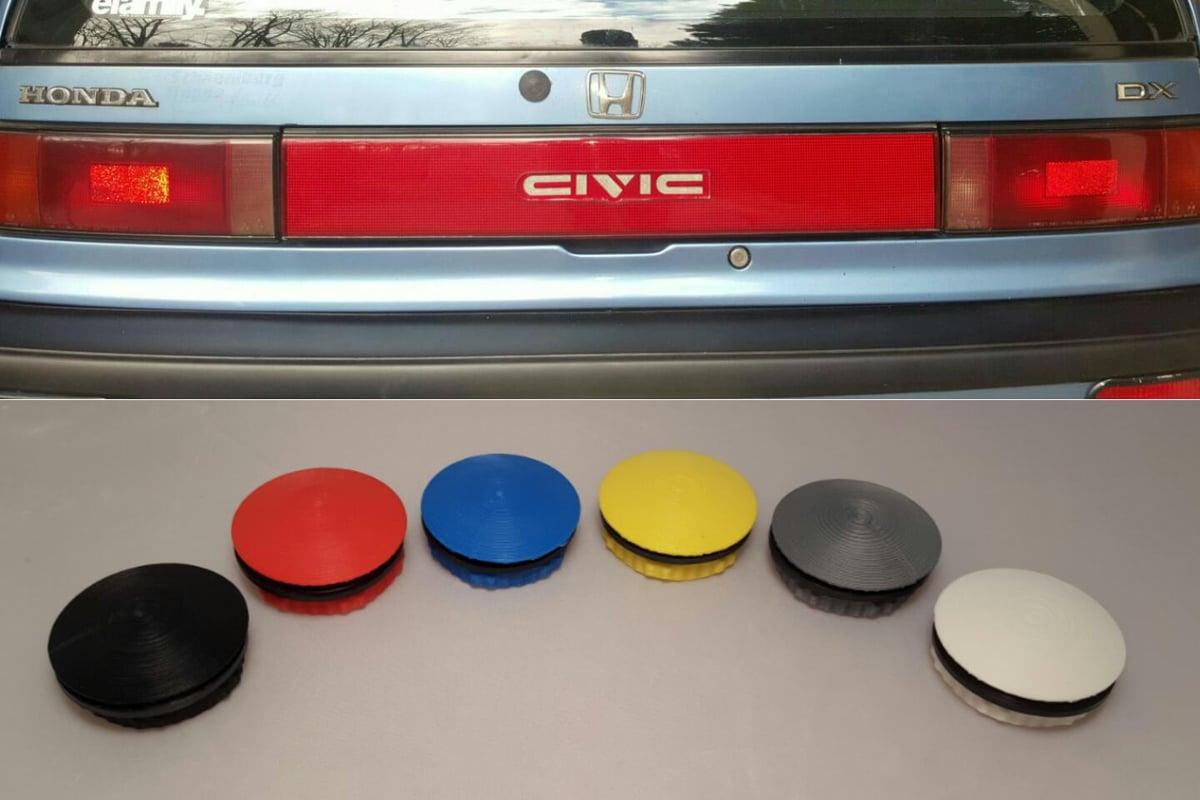 on 91 Acura Integra Yellow