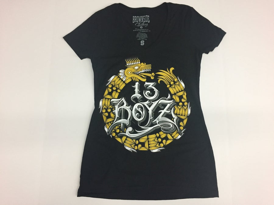 Image of 13 BOY'Z GIRL V NECK T-SHIRT