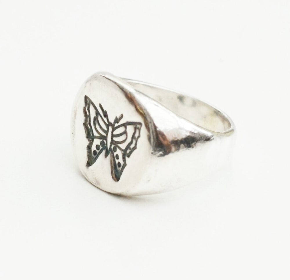 Image of The Gethin Solid Silver Signet Ring