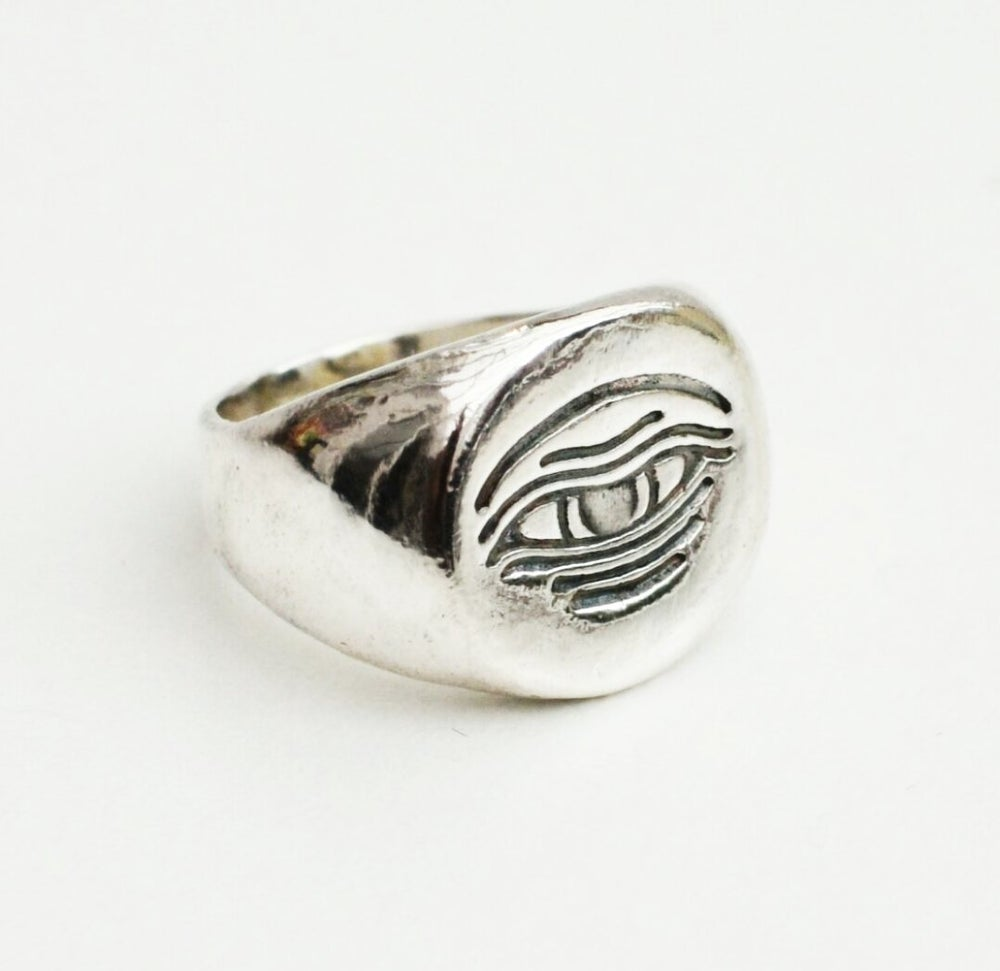 Image of The Piers Solid Silver Signet Ring