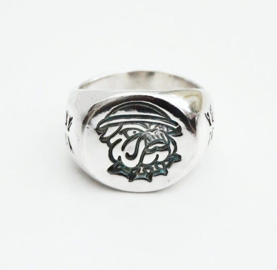 Image of The Pound Solid Silver Signet Ring