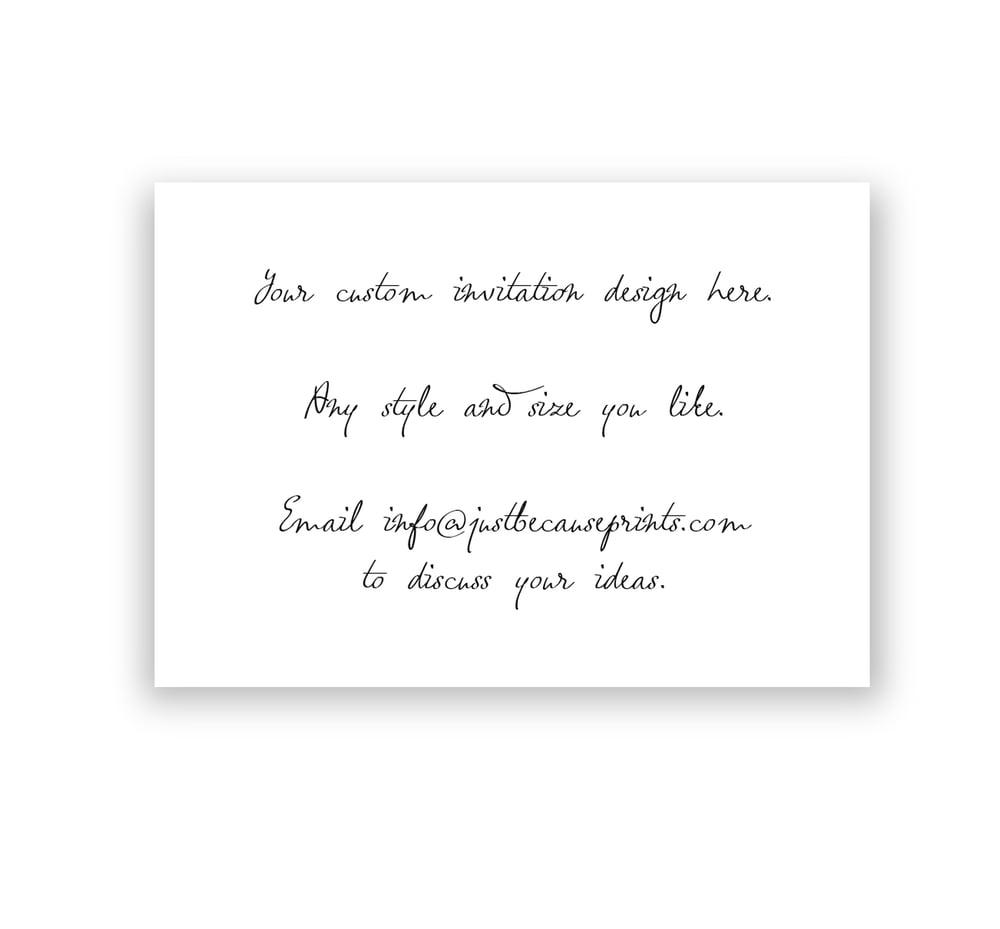 Image of Custom designed invitations