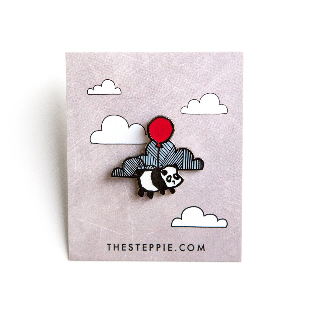 "Image of ""Flying Panda"" Hard Enamel Pin"