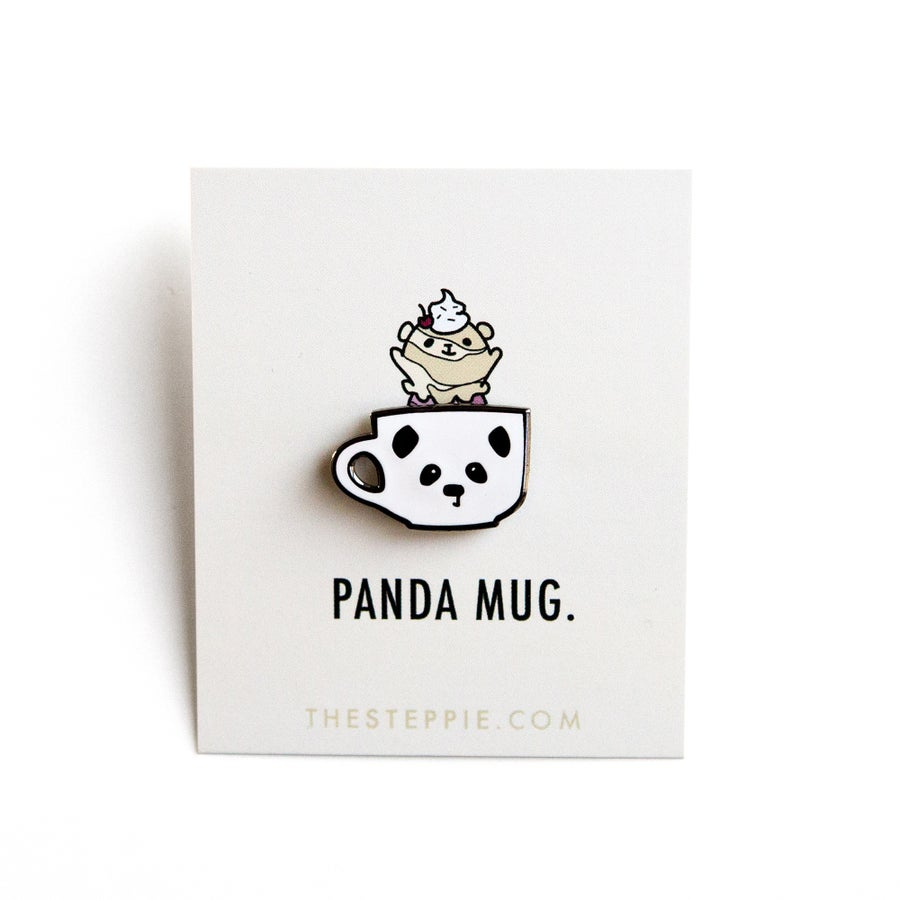 "Image of ""Panda Mug"" Hard Enamel Pin"