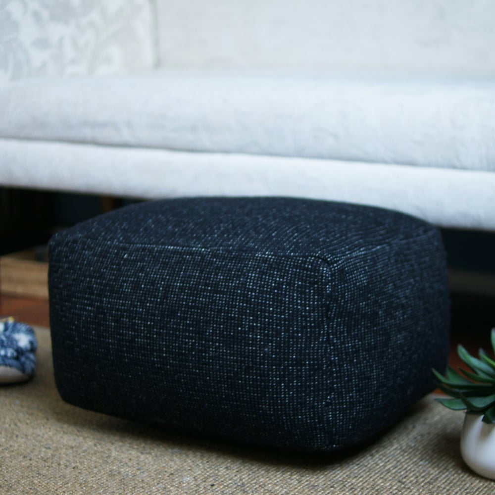 Image of Made to order one colour small foot stool - Black and whites