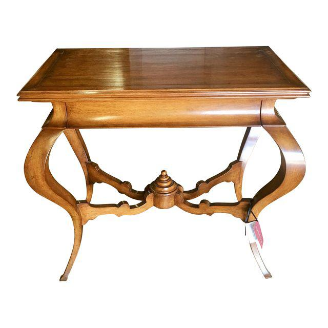 Image of Quadrus Studios Venetian Walnut Console Table