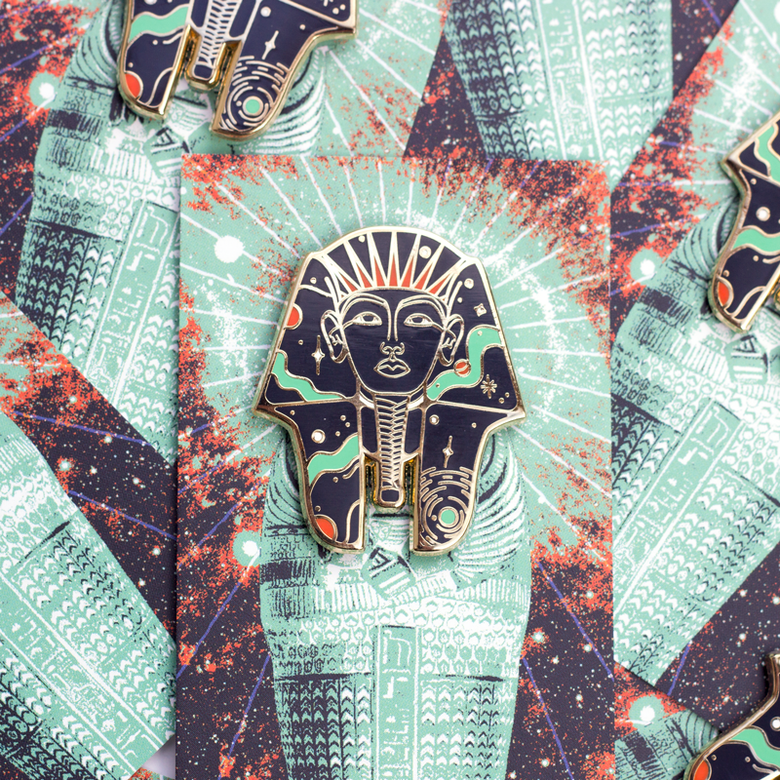 Image of Cosmic Pharaoh Enamel Pin