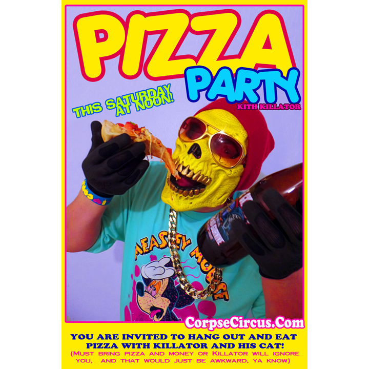 Image of Killator Pizza Party Poster