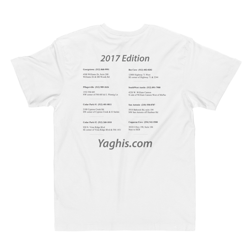 Image of Yaghi's Fine Jersey T-Shirt (White)