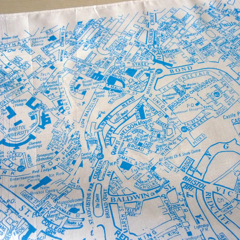 Image of Bristol City Map Hankie