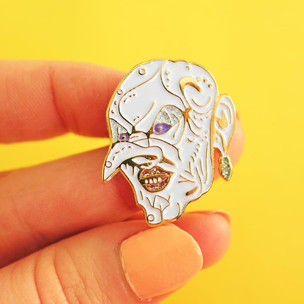 Image of Grand High Bitch, glitter, enamel pin - badge - lapel pin
