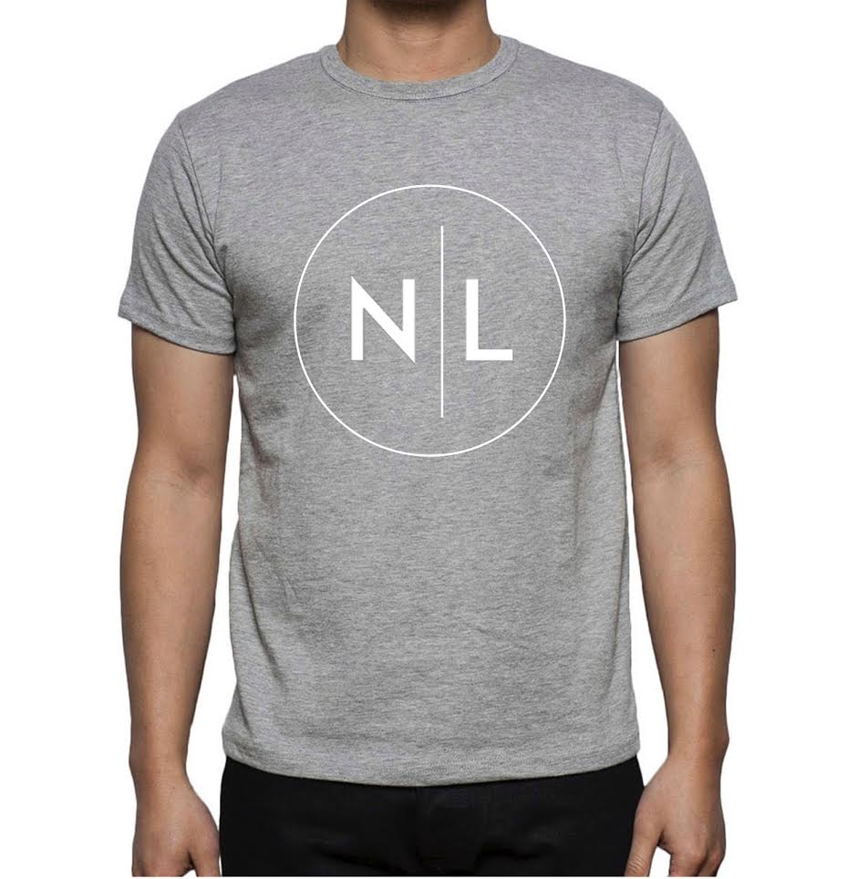 Image of Grey NL chest logo tee - limited edition.