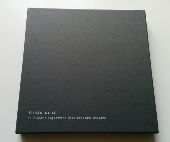 Image of FABIO ORSI - Il Ricordo Improvviso Dell'Assoluto Stupore BOX SET Book + LP Picture Disc [ltd.37]