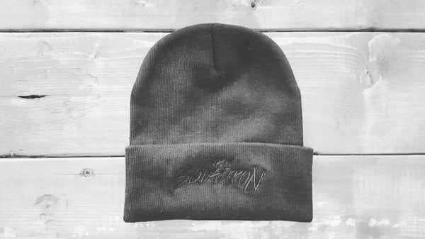"Image of The Squadron Beanie ""Black on Black"""