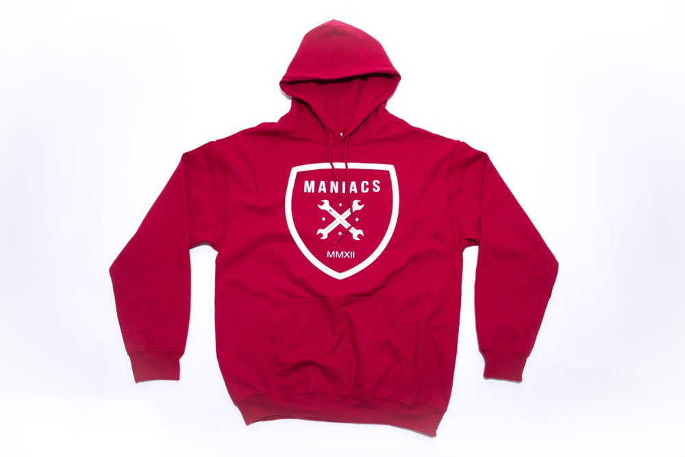 Image of Maniacs Logo Red Hoodie