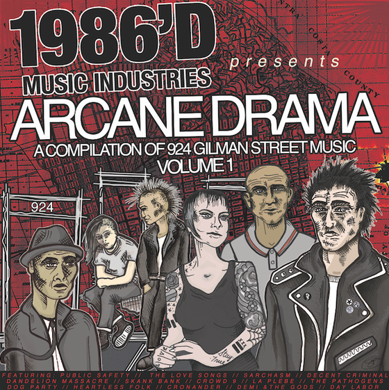 "Image of ""Arcane Drama: A Compilation of 924 Gilman St Music"" Vol. 1 (vinyl)"