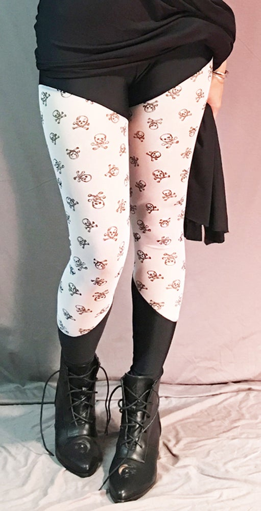 Image of Crossbones Mesh Leggings