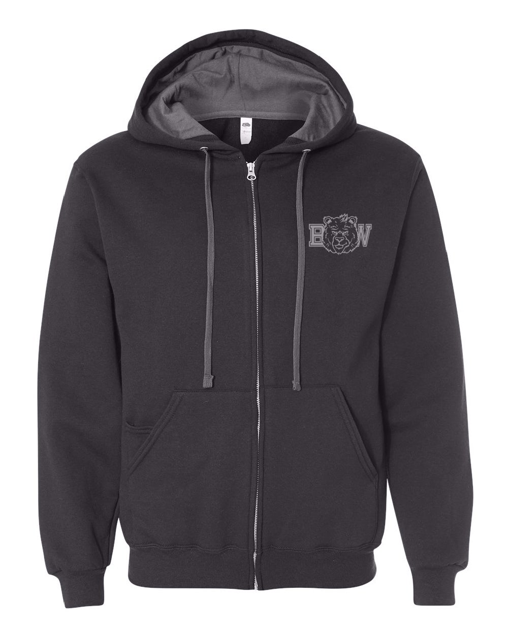 Image of BW ZipUp Sweater - Charcoal Black - SF73R