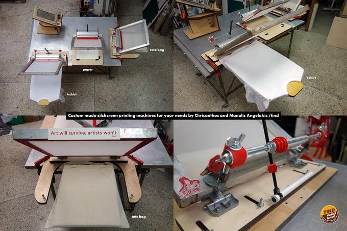 Image of Custom Handmade Silkscreen Printing Machines