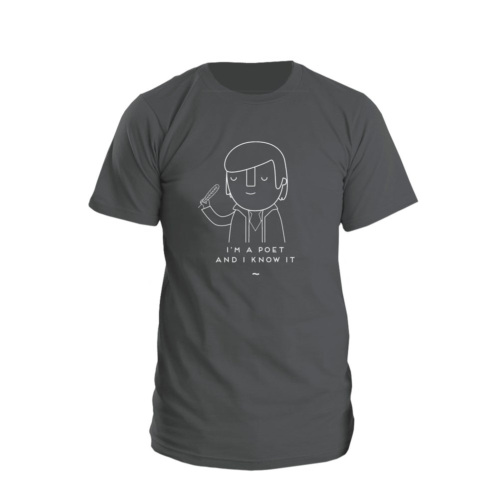"Image of Robert Burns ""Poet and know it"" Shirt"