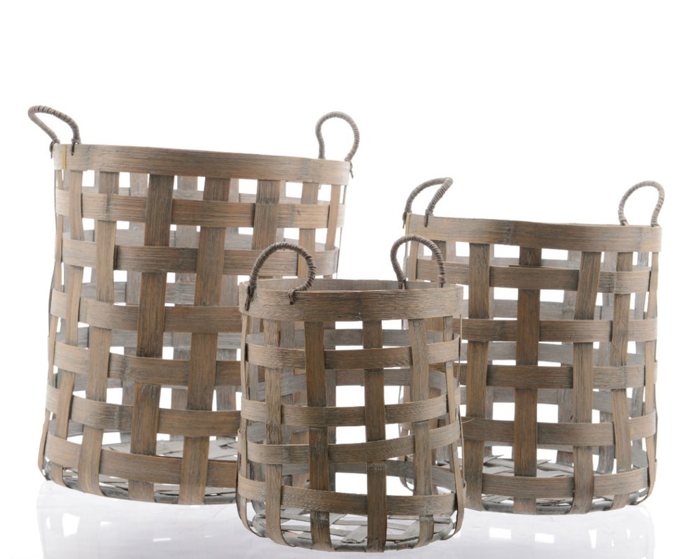 Image of Bamboo Baskets Set of 3