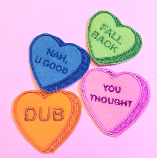 "Image of ""Deaded"" Valentine's Day Patches"