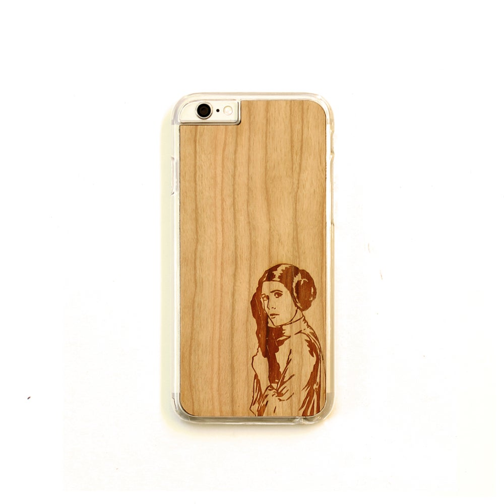 Image of TIMBER Wood Skin Case (iPhone, Samsung Galaxy) : Princess Leia Edition