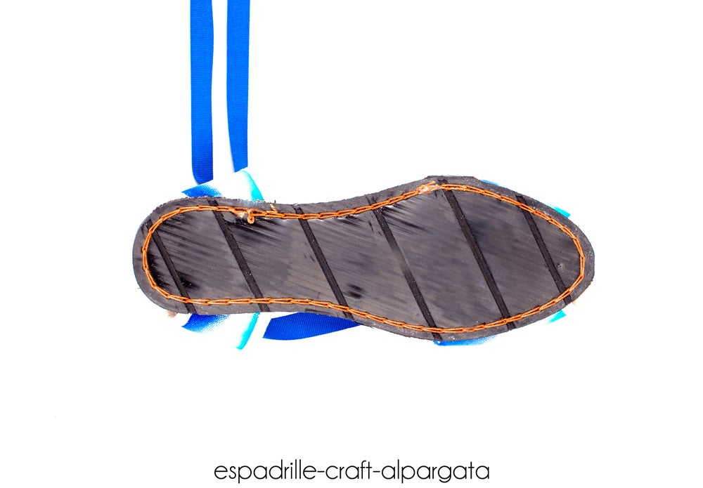 Image of Flat Albarca Espadrilles - Hand Painted - many colors