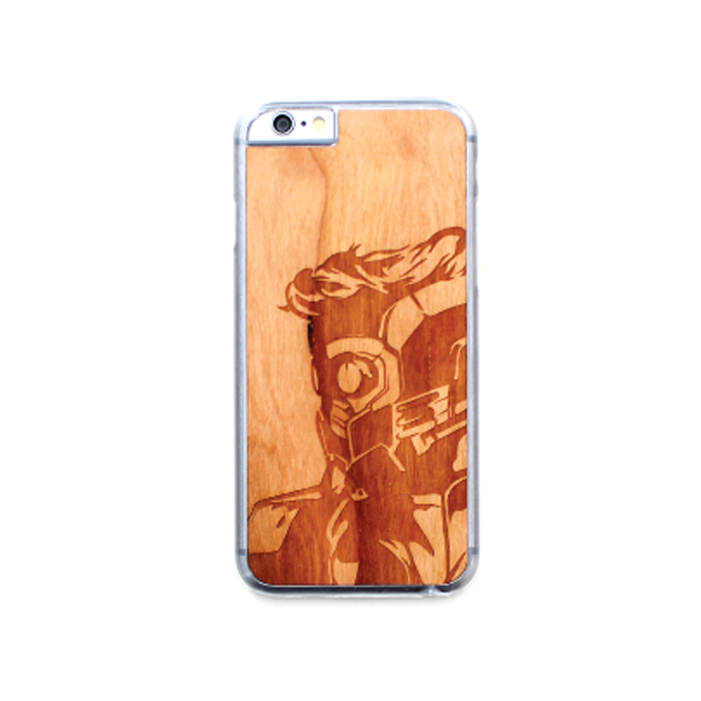 Image of TIMBER Wood Skin Case (iPhone, Samsung Galaxy) : Star Lord Edition