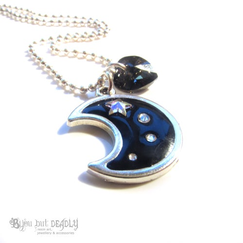 Image of Moon and Shooting Stars Pendant
