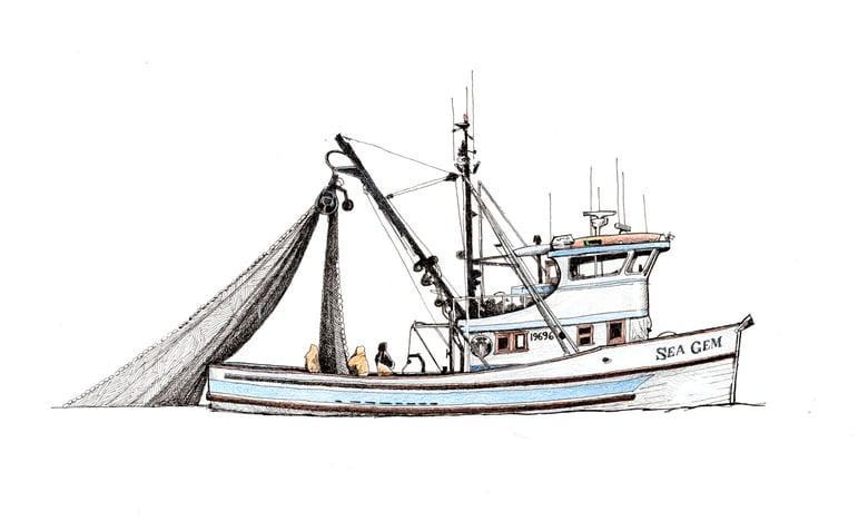 "Image of Sea Gem 12"" X 8"""