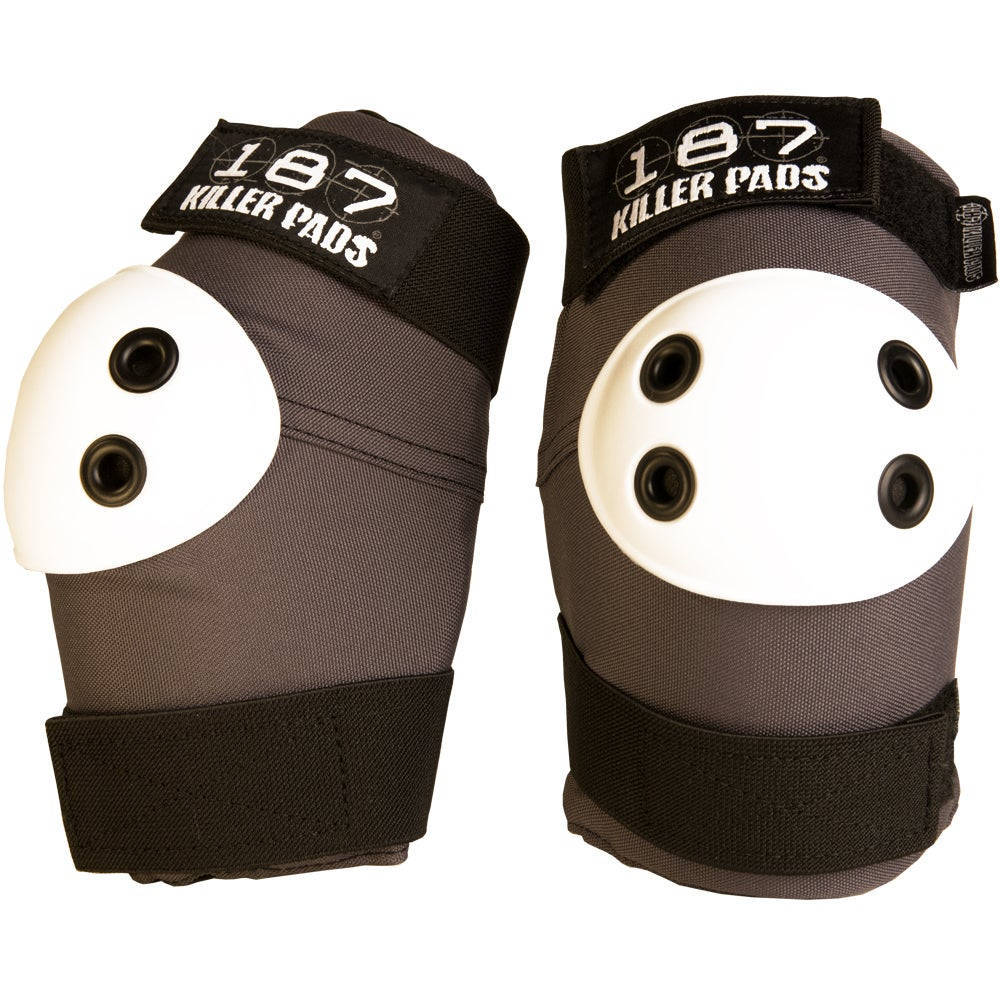Image of ELBOW PAD GREY WITH WHITE CAPS