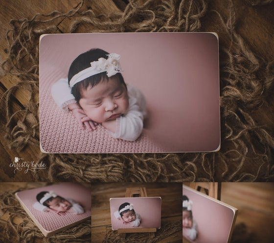Image of 8x12 Wooden Photo Block