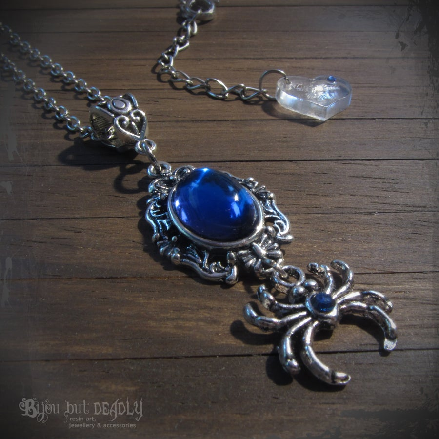 Image of Gothic Mystic Spider Necklace