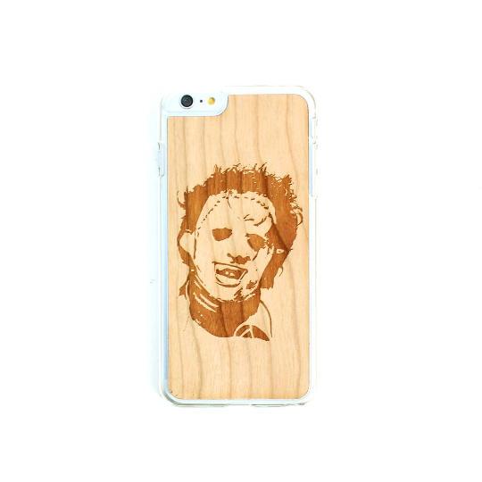 Image of TIMBER Wood Skin Case (iPhone, Samsung Galaxy) : Leatherface Edition
