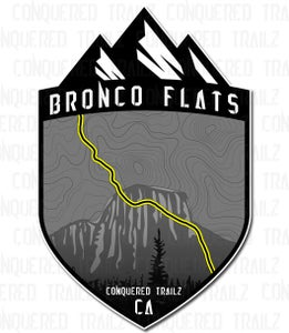 "Image of ""Bronco Flats"" Trail Badge"