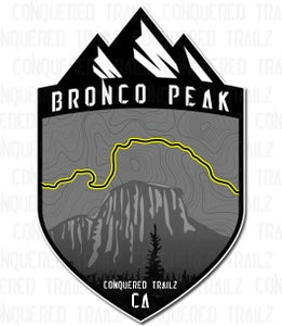 "Image of ""Bronco Peak"" Trail Badge"