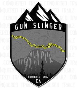 """Image of """"Gun Slinger"""" Trail Badge"""