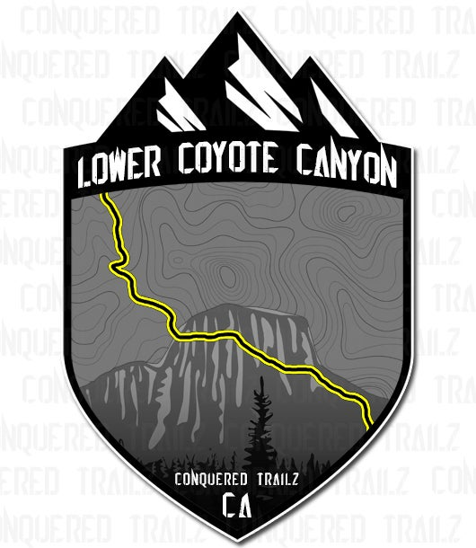 "Image of ""Lower Coyote Canyon"" Trail Badge"