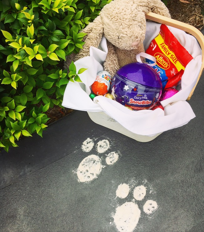 Image of Easter Bunny Footprint Stencil