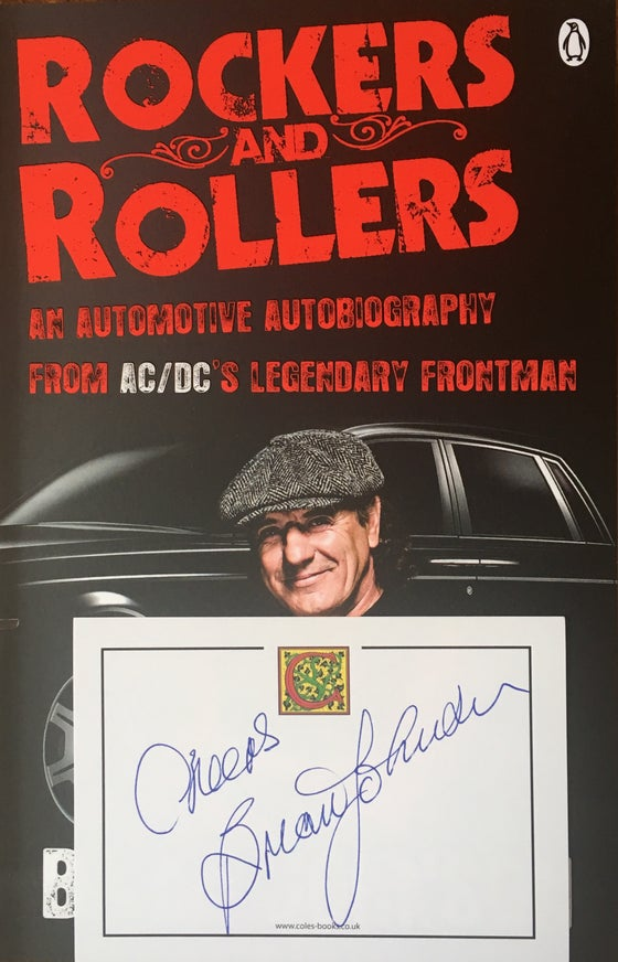Image of Rockers & Rollers paperback book (Signed by Brian Johnson)