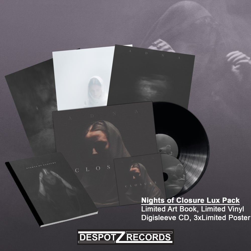 Image of Adna - Nights of Closure Lux Pack (Limited Art Book, Vinyl, CD, 3x Posters)
