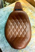 Image of DIAMOND STITCHED LOWRIDER LEATHER SEAT FOR TRIUMPH SPEEDMASTER AMERICA