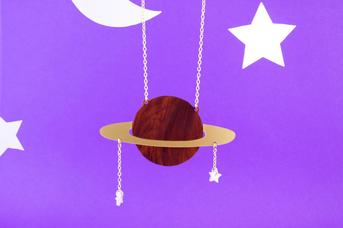 Image of Ring Planet Necklace