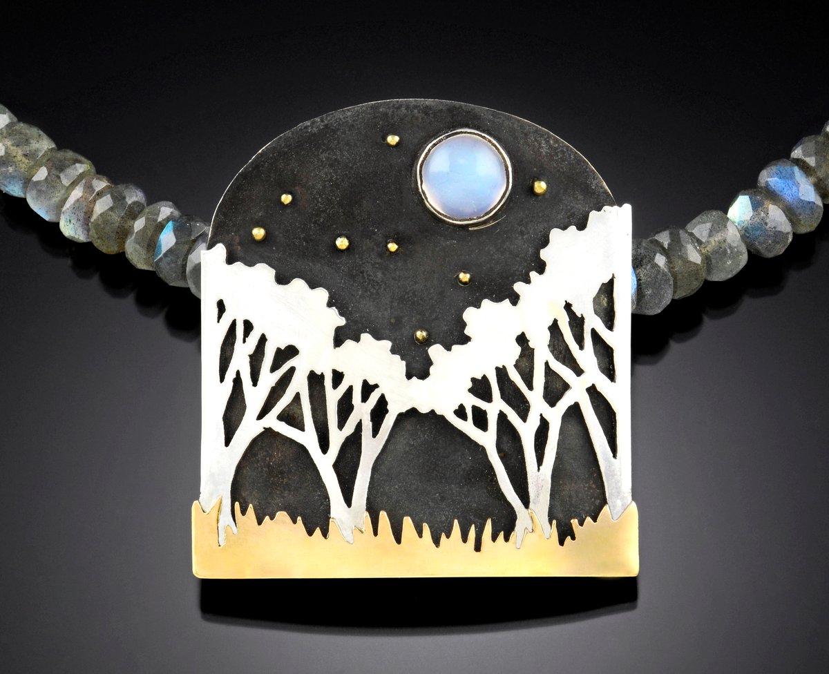 Image of Moonlit Landscape necklace